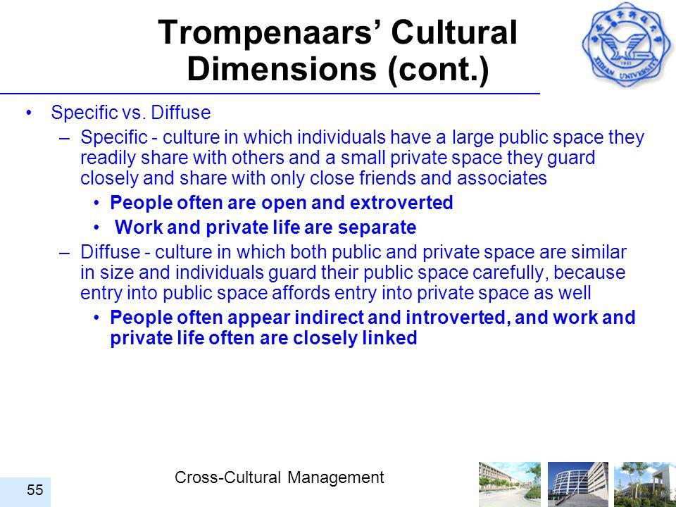 Trompenaars' Cultural Dimensions (cont.)