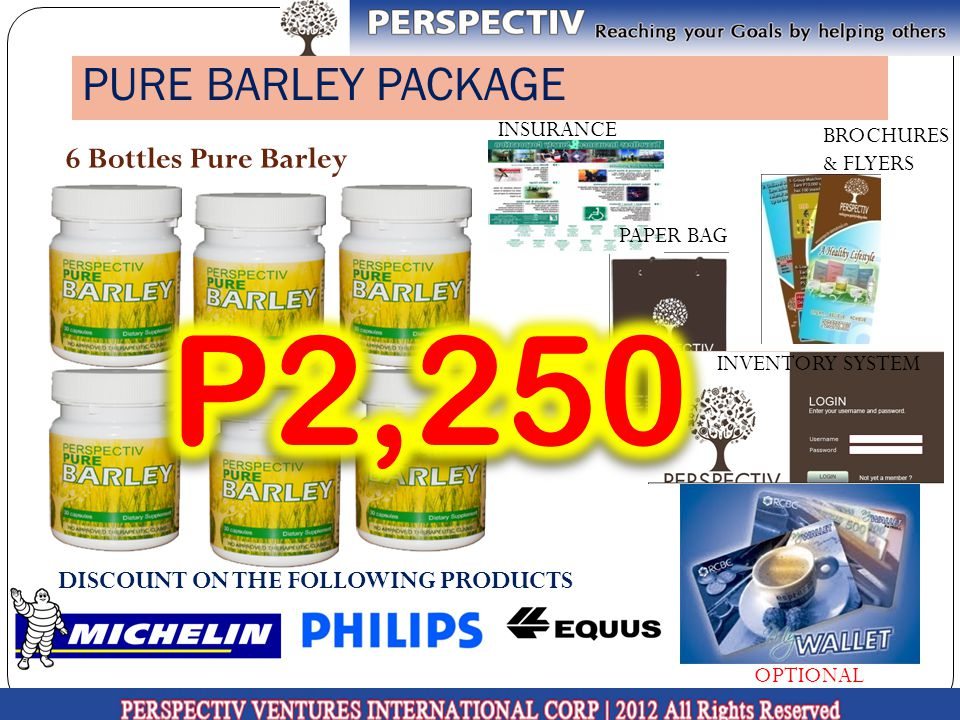 P2,250 PURE BARLEY PACKAGE 6 Bottles Pure Barley