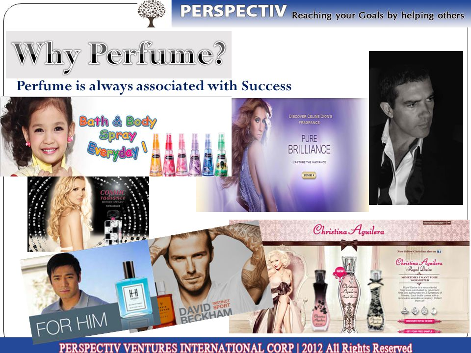 Why Perfume Perfume is always associated with Success