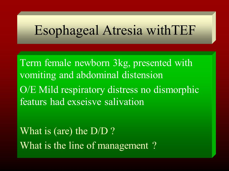 Esophageal Atresia withTEF