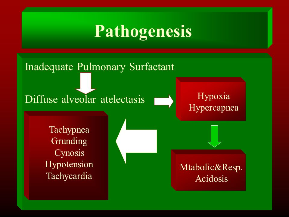 Pathogenesis Inadequate Pulmonary Surfactant