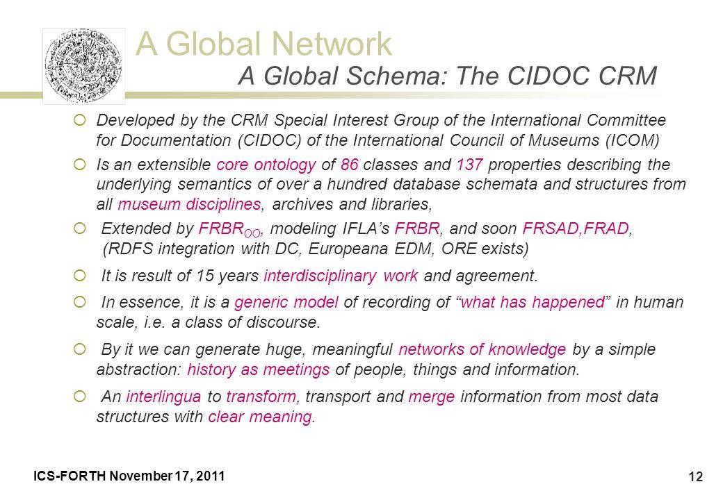 A Global Schema: The CIDOC CRM