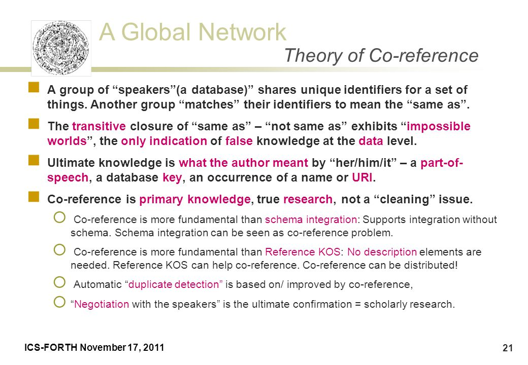 Theory of Co-reference