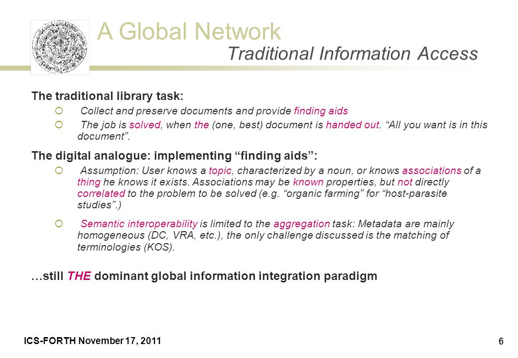 Traditional Information Access