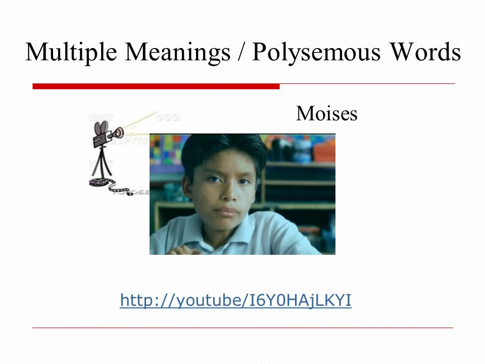 Multiple Meanings / Polysemous Words