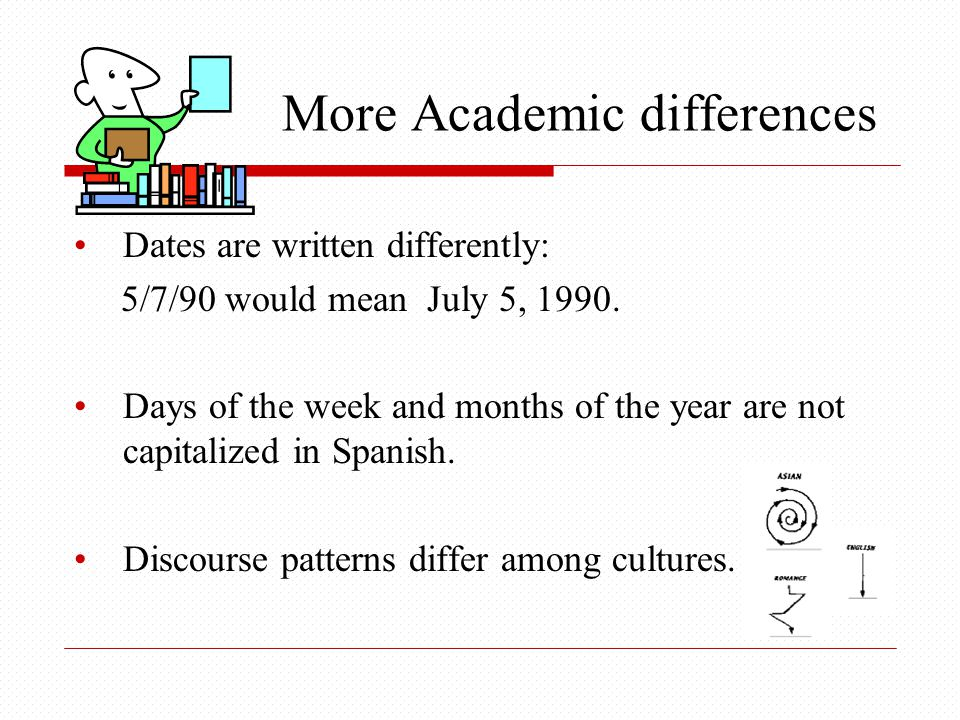 More Academic differences