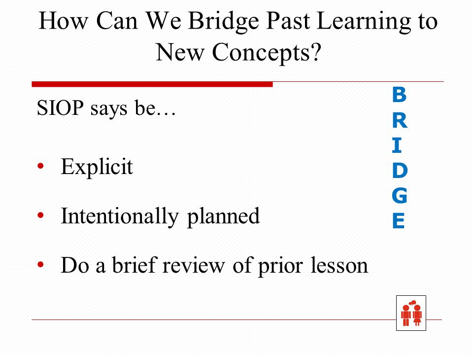 How Can We Bridge Past Learning to New Concepts