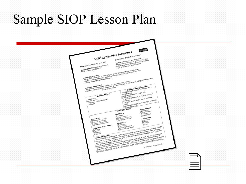 The Siop® Model Building Background - Ppt Download