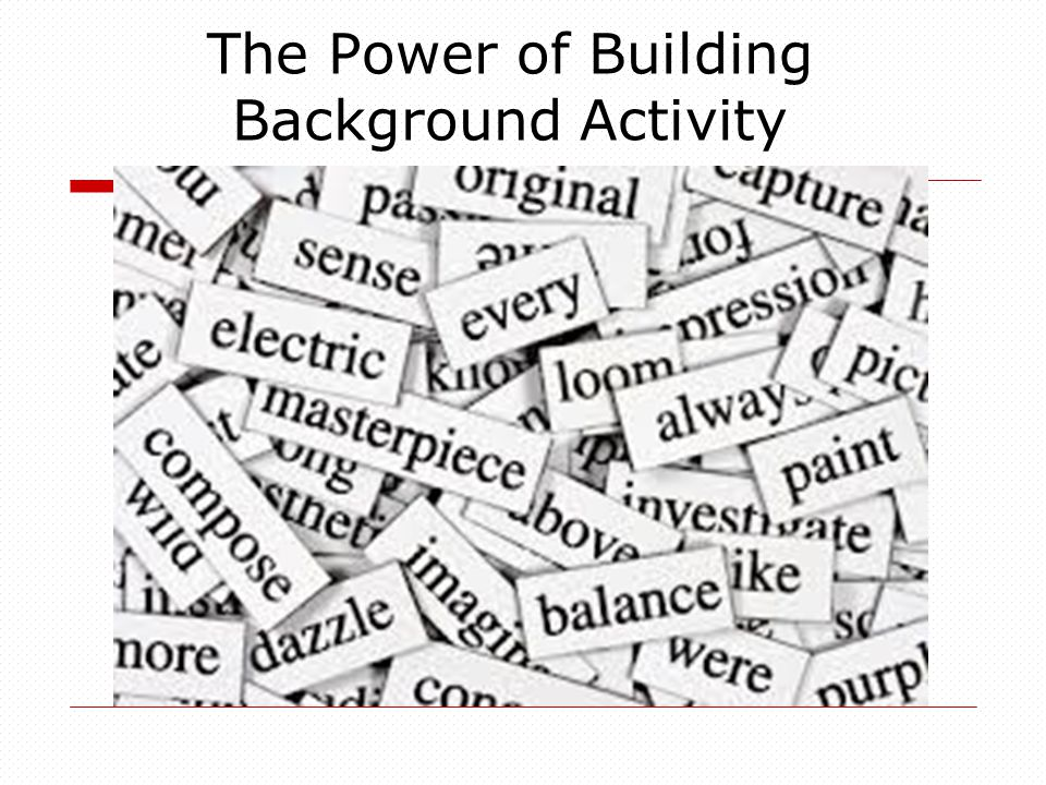The Power of Building Background Activity