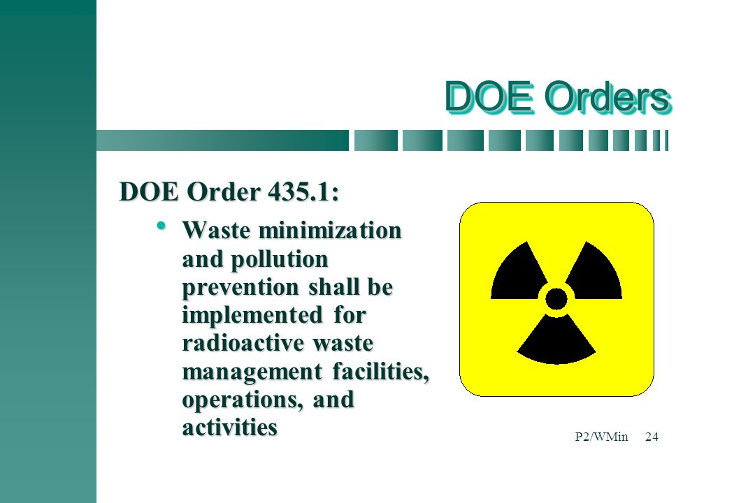 DOE Orders DOE Order 435.1: