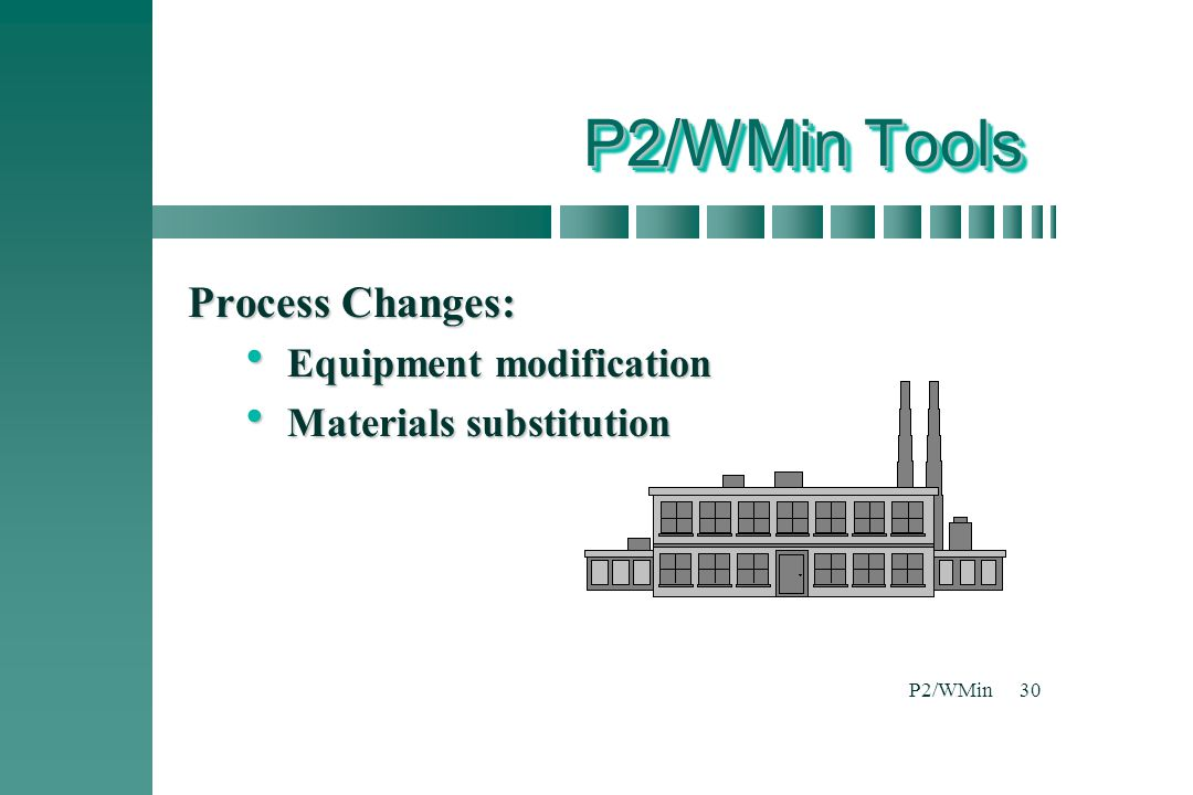 P2/WMin Tools Process Changes: Equipment modification