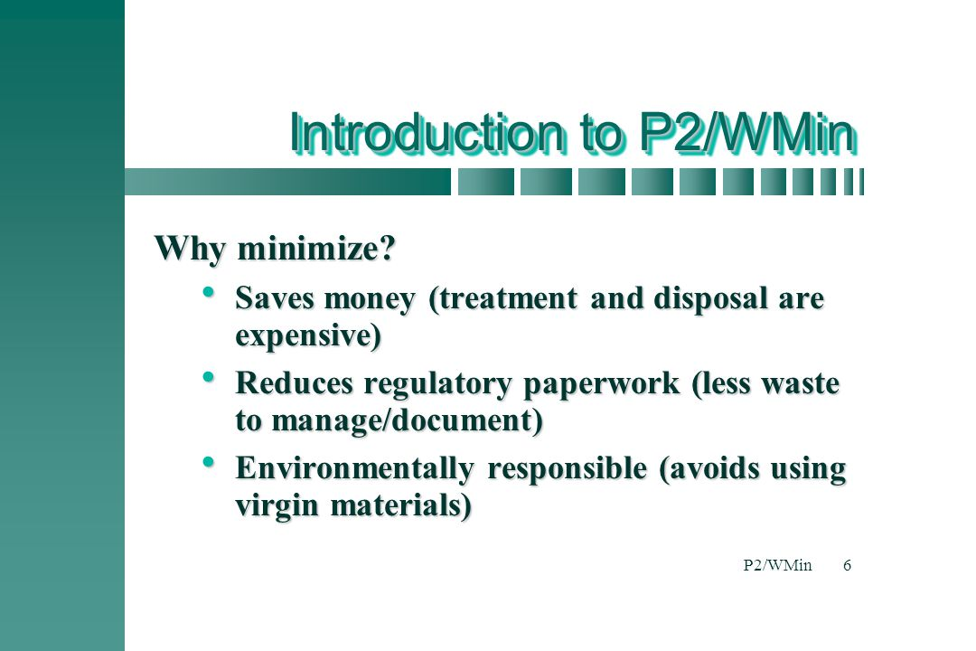 Introduction to P2/WMin