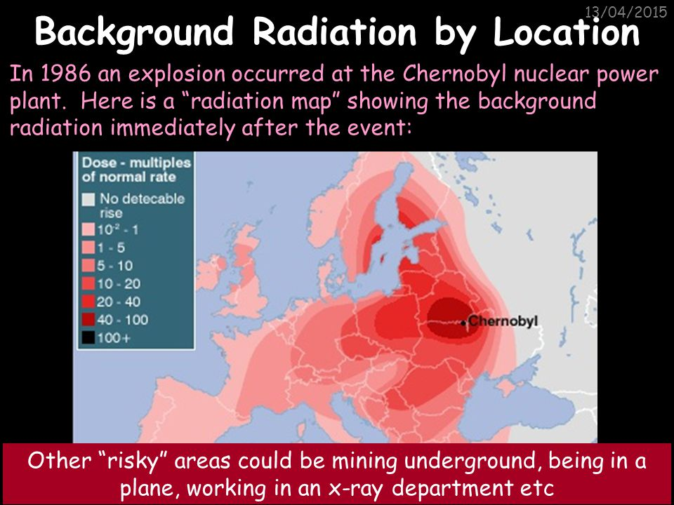 Background Radiation by Location