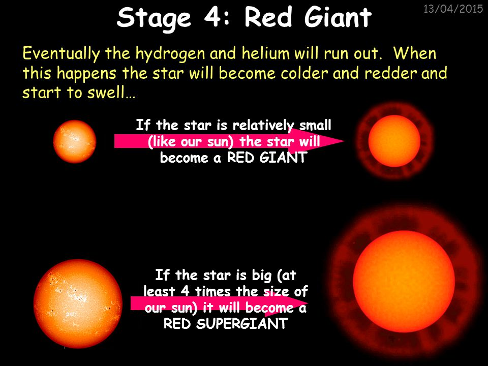 Stage 4: Red Giant 11/04/2017.