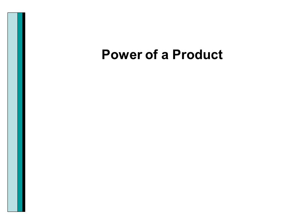 Power of a Product