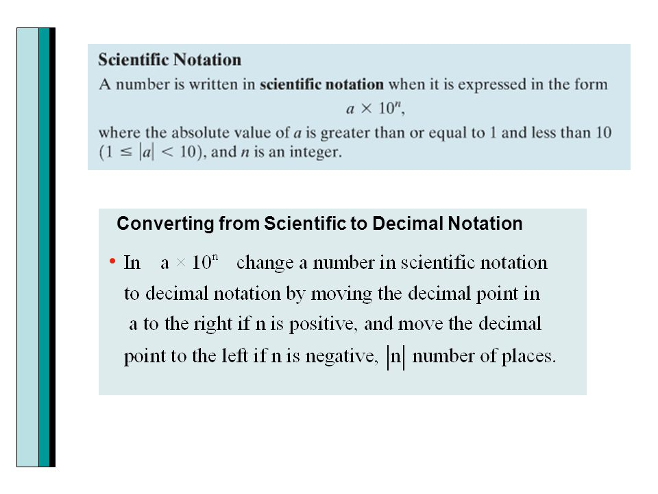 Converting from Scientific to Decimal Notation