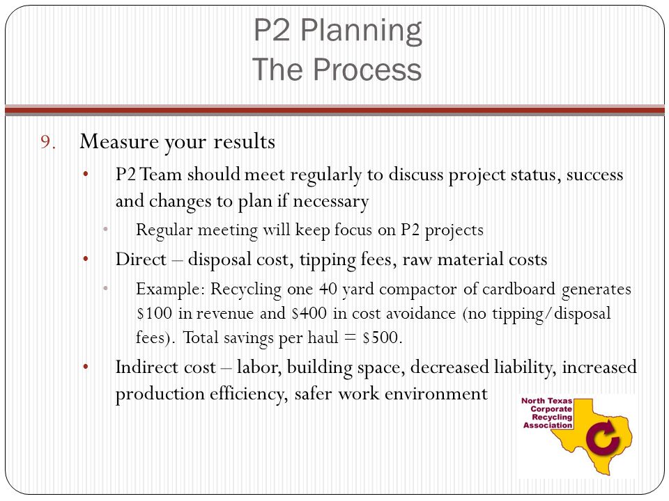 P2 Planning The Process Measure your results