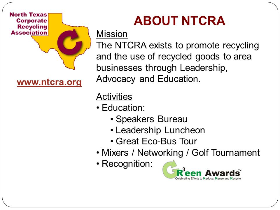ABOUT NTCRA Mission.