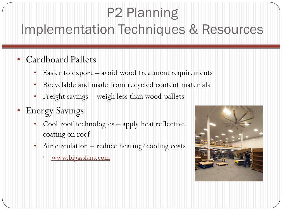 P2 Planning Implementation Techniques & Resources