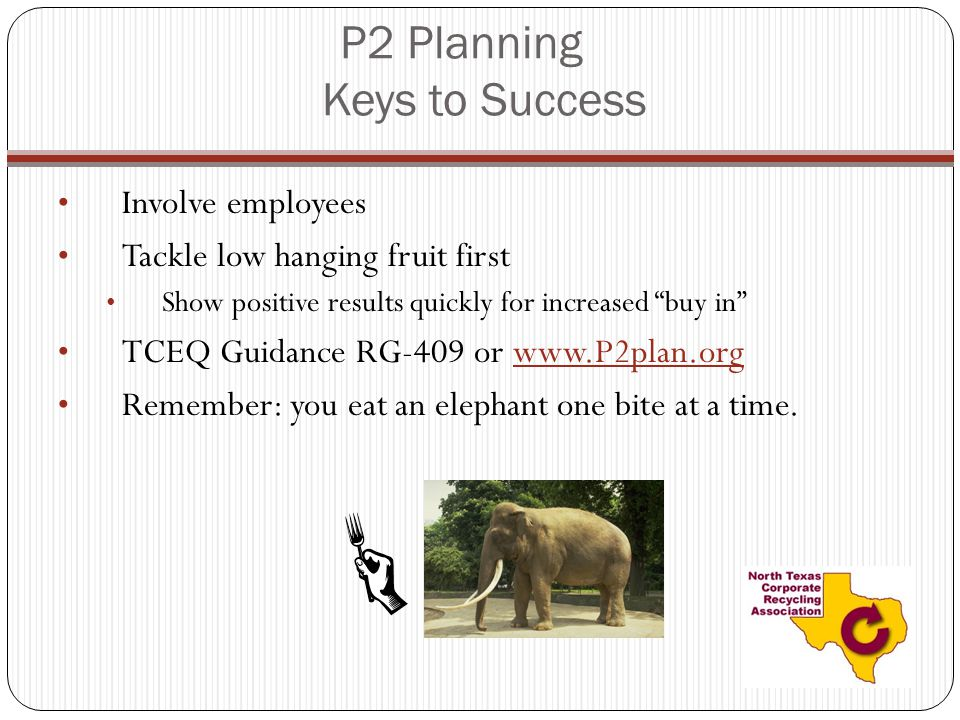P2 Planning Keys to Success
