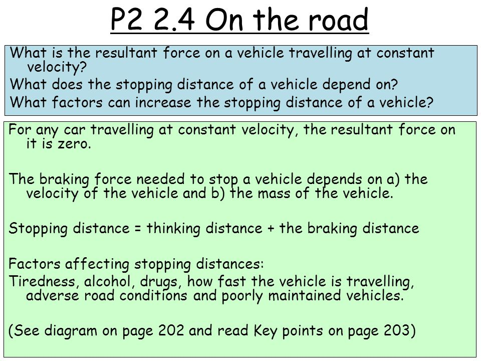 P2 2.4 On the road