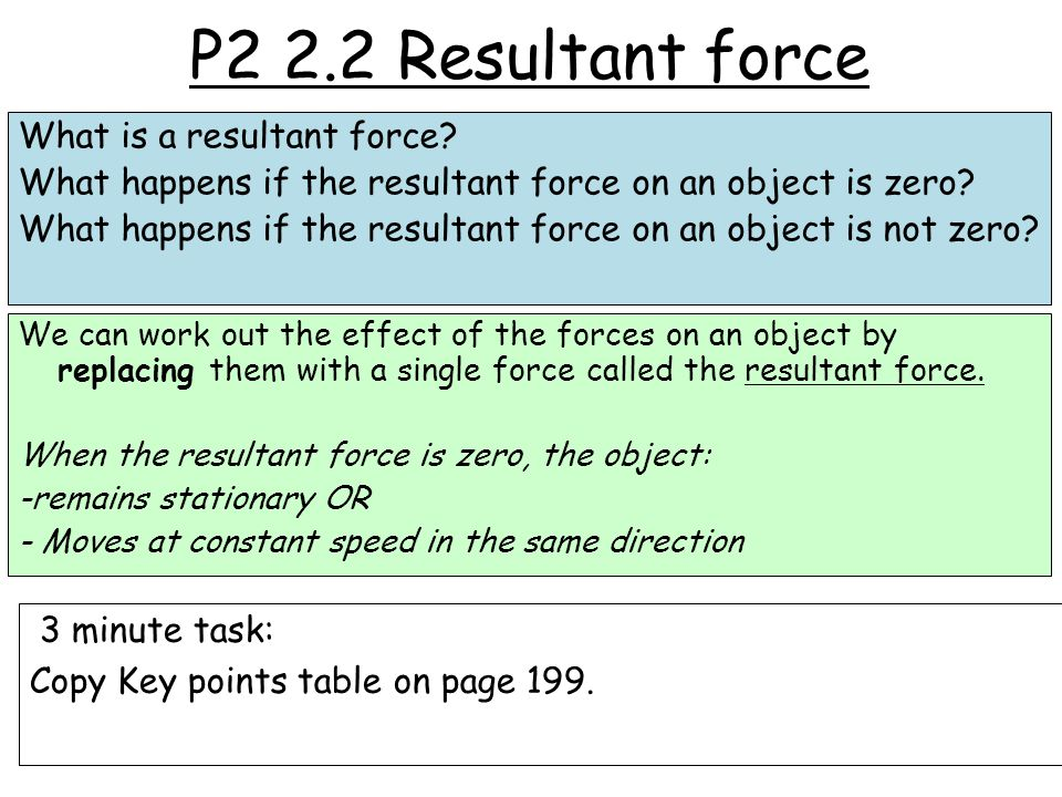 P2 2.2 Resultant force