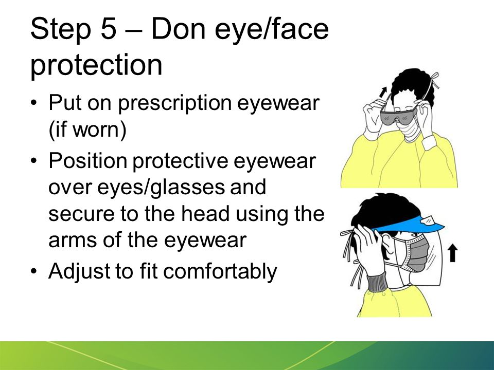 Step 5 – Don eye/face protection