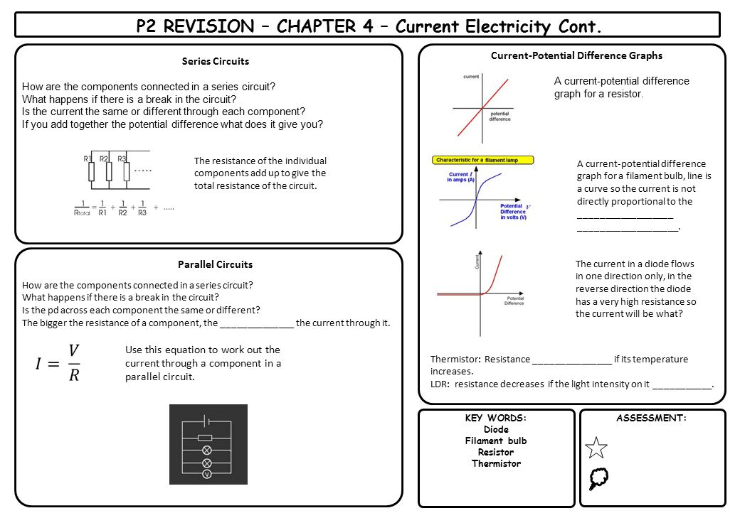 P2 REVISION – CHAPTER 4 – Current Electricity Cont.