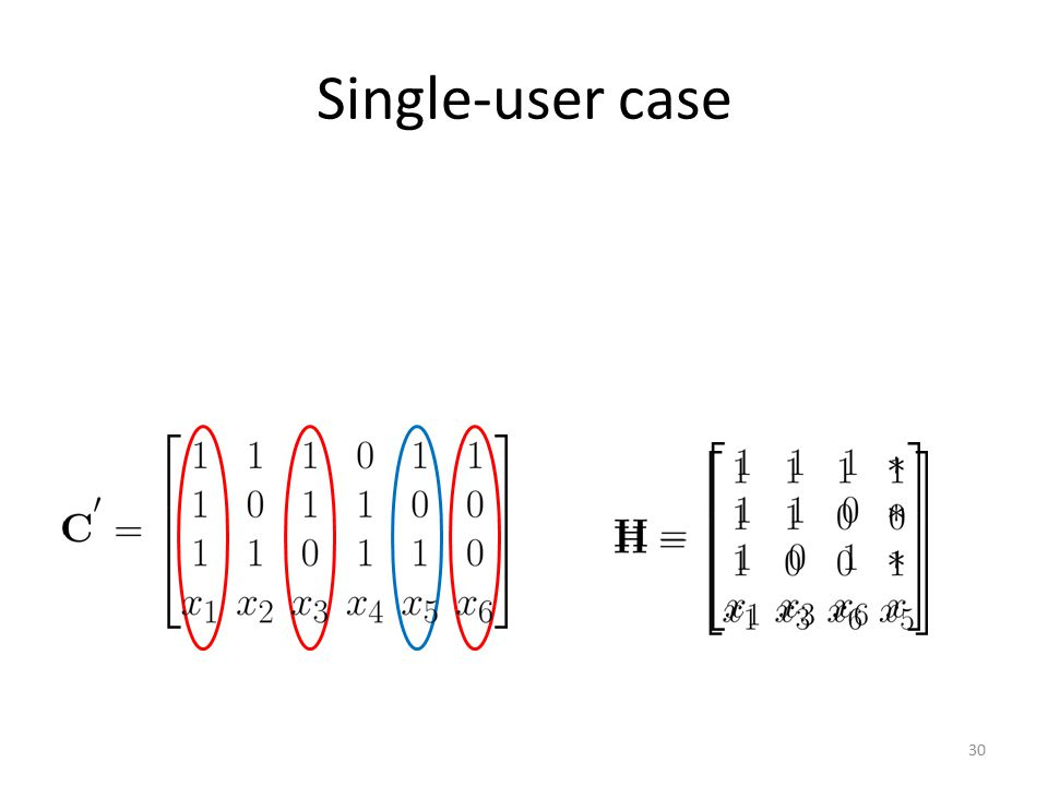 Single-user case
