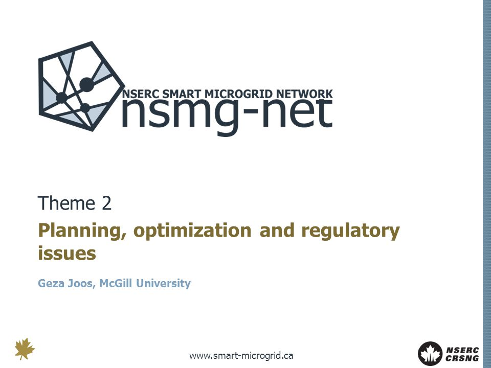 Planning, optimization and regulatory issues