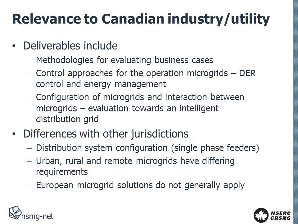 Relevance to Canadian industry/utility