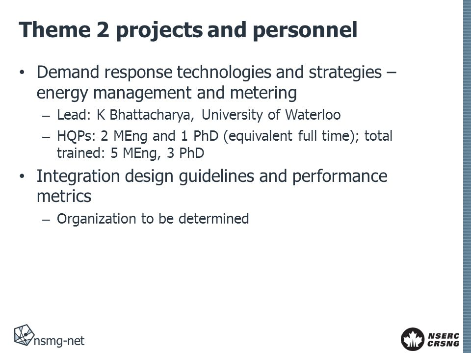 Theme 2 projects and personnel