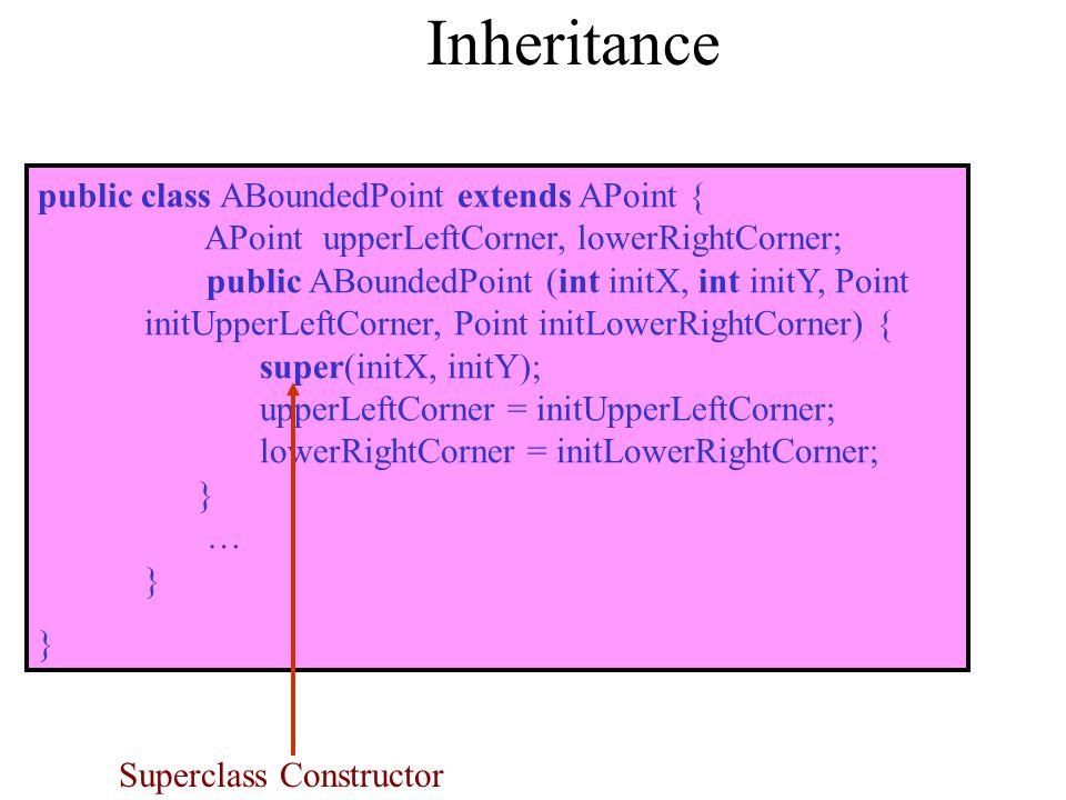 Superclass Constructor