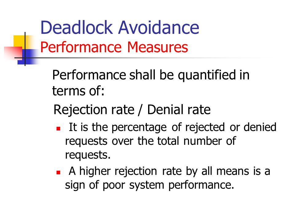 Deadlock Avoidance Performance Measures