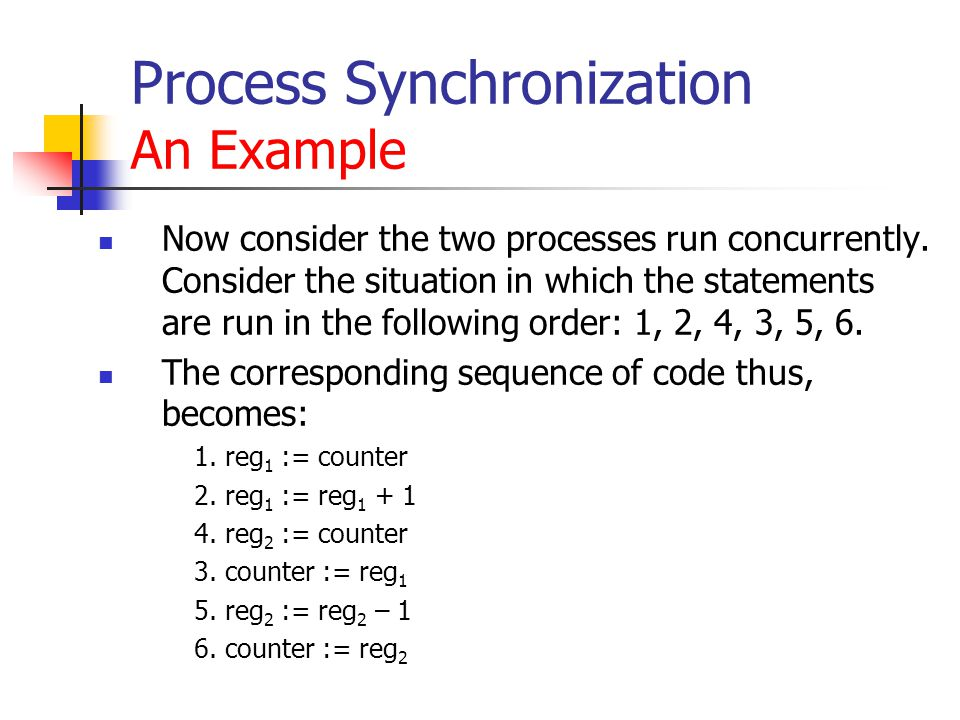 Process Synchronization An Example