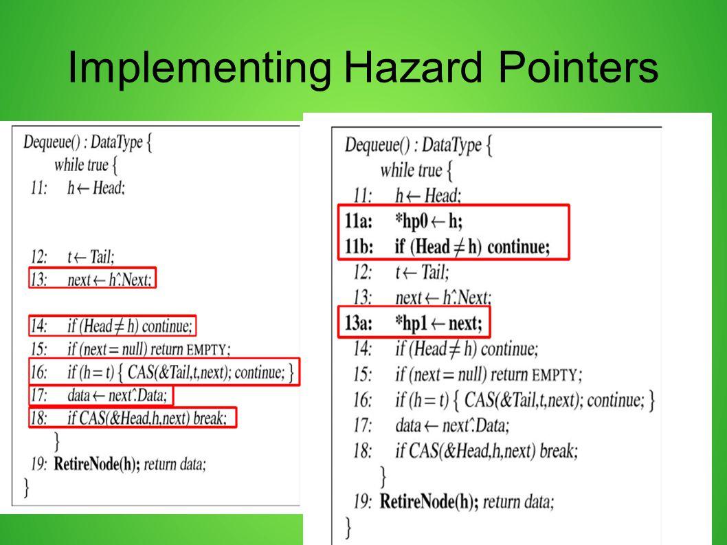 Implementing Hazard Pointers