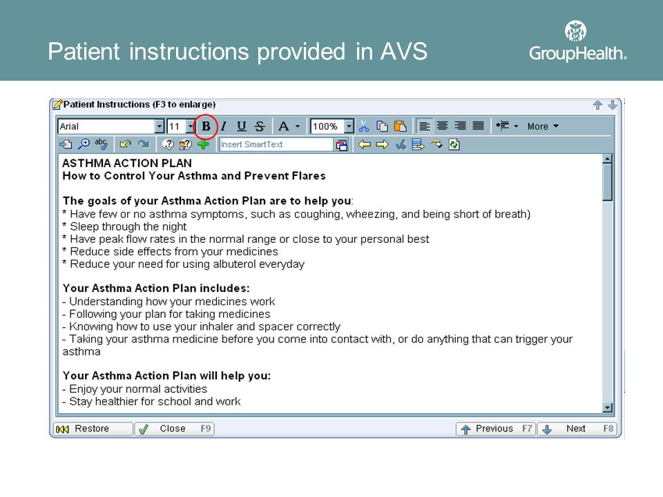 Patient instructions provided in AVS