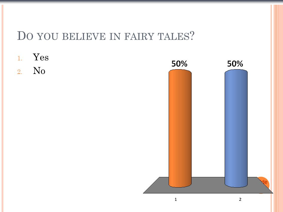 Do you believe in fairy tales