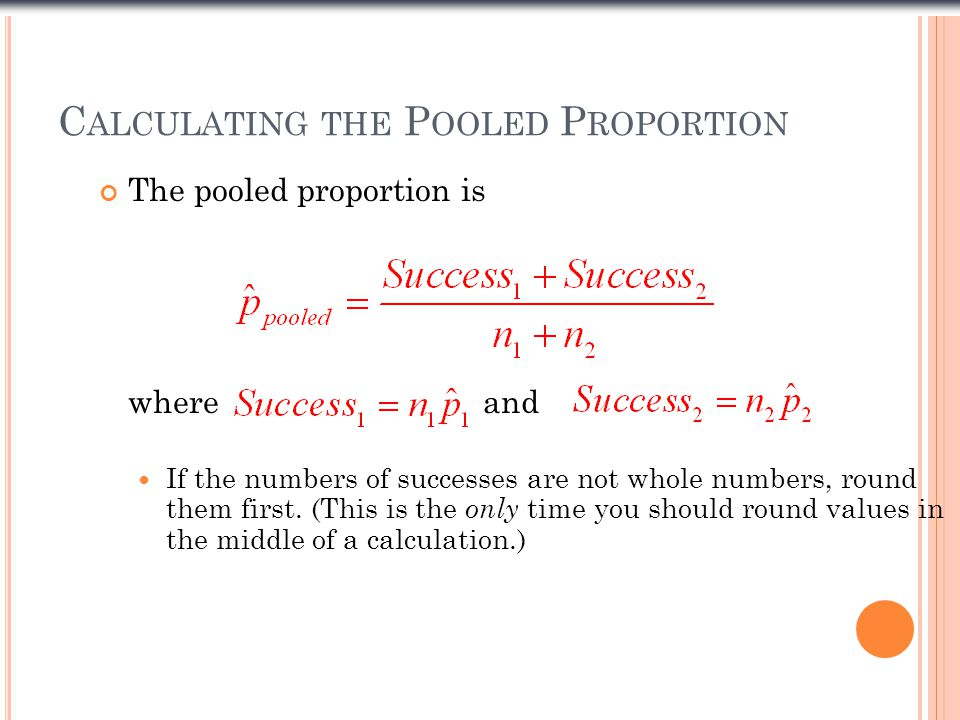 Calculating the Pooled Proportion