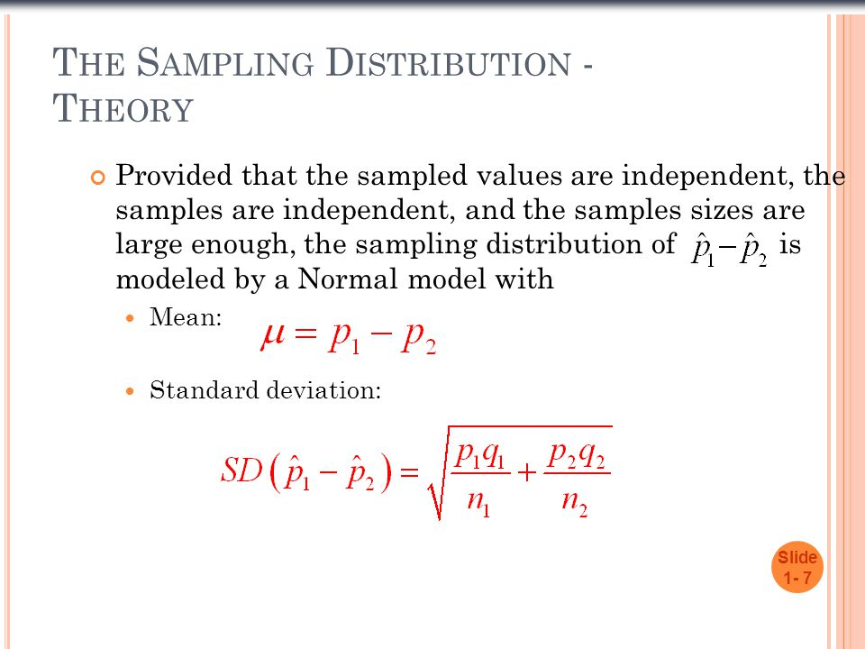 The Sampling Distribution - Theory