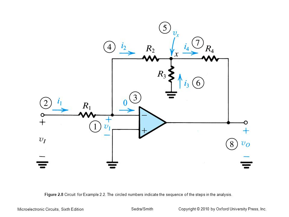 Figure 2. 8 Circuit for Example 2. 2