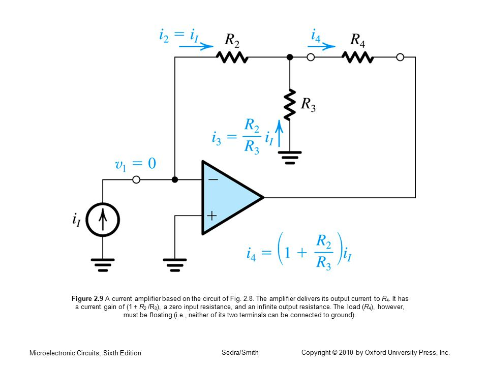 Figure 2. 9 A current amplifier based on the circuit of Fig. 2. 8