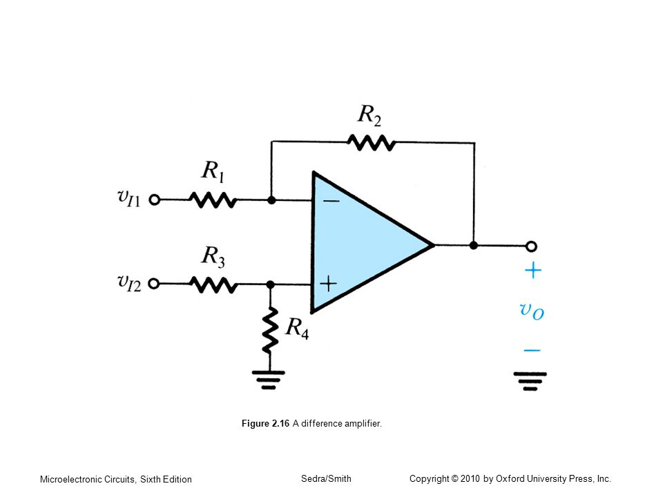 Figure 2.16 A difference amplifier.