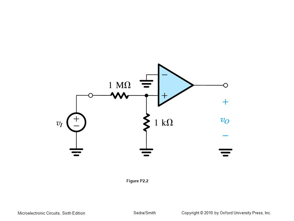 Figure P2.2 Microelectronic Circuits, Sixth Edition.
