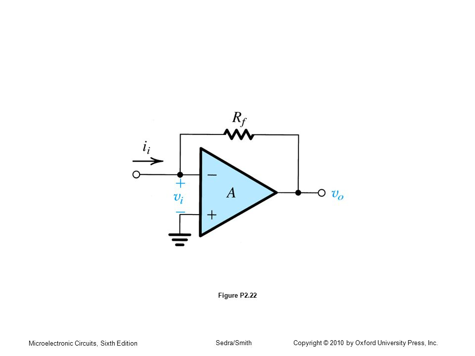 Figure P2.22 Microelectronic Circuits, Sixth Edition.