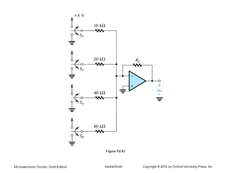 Figure P2.43 Microelectronic Circuits, Sixth Edition.