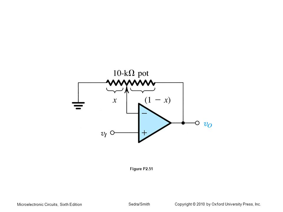 Figure P2.51 Microelectronic Circuits, Sixth Edition.