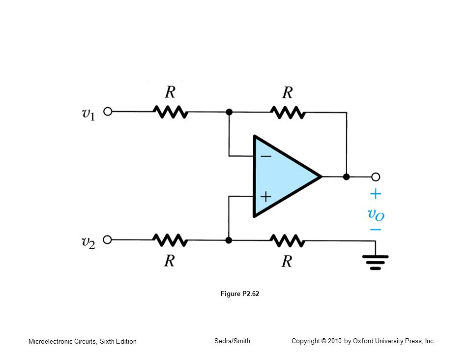 Figure P2.62 Microelectronic Circuits, Sixth Edition.
