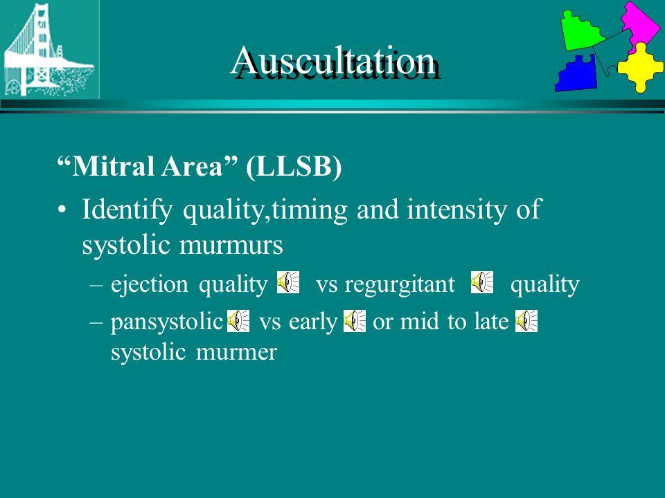 Auscultation Mitral Area (LLSB)