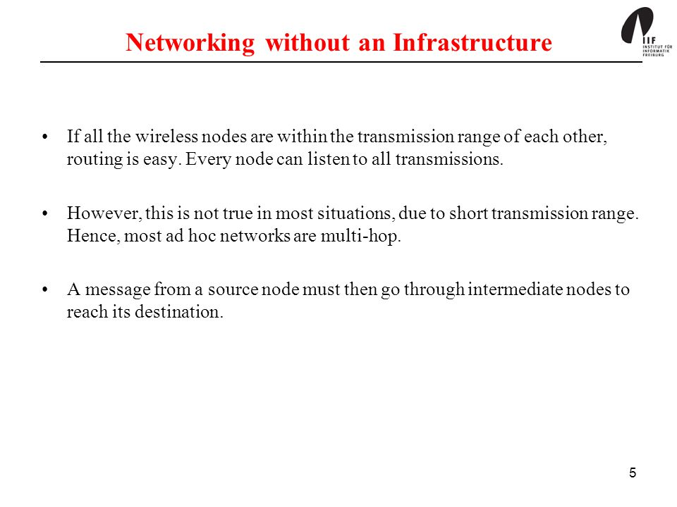 Networking without an Infrastructure